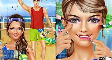 Sporty girls: beach volleyball