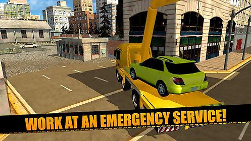 tow truck: car transporter 3d