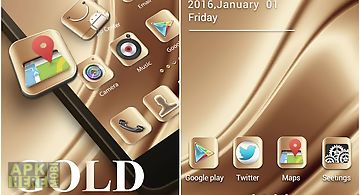 Gold 2016 go launcher theme