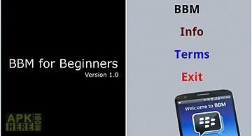 Bbm 4 beginners