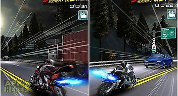 Speed night highway moto