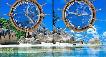 Travel compass clock wallpaper