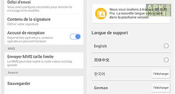 Go sms pro french language pac