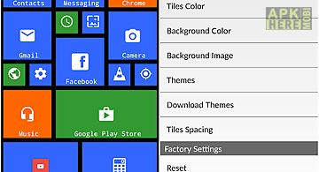 X launcher metro look-themes for Android free download at Apk Here