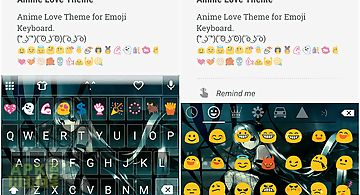 Anime love emoji keyboard skin