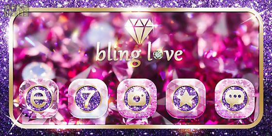 Bling love go launcher theme for Android free download at Apk Here
