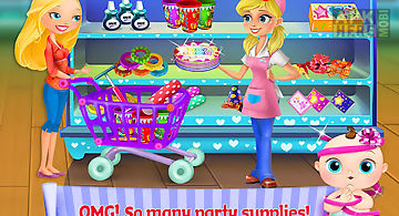 Supermarket girl-baby birthday