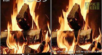 Fireplace video hd Live Wallpape..