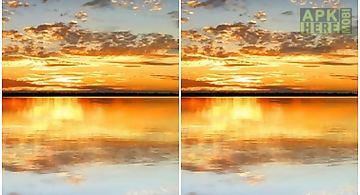 Sunset lake  Live Wallpaper