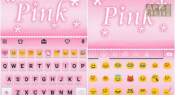 Pink emoji keyboard -emoticons