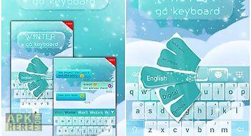 Winter go keyboard theme