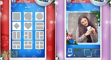 Winter photo collage maker