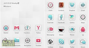 Clear white launcher