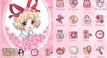 Sakura go launcher theme