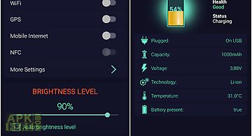 Simple battery manager +widget
