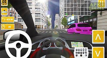 Taxi driver usa new york 3d