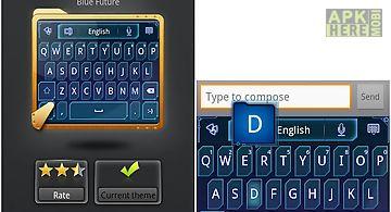 Go keyboard blue future theme