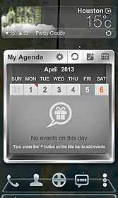 next calendar widget