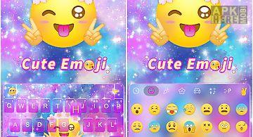 Cute emoji kika keyboard theme