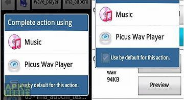 Picus wav player trial