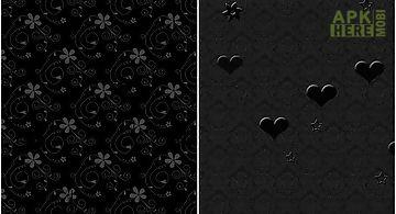 Black patterns Live Wallpaper