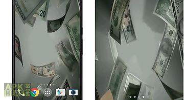 Flying dollars  Live Wallpaper