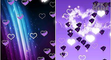 Purple heart Live Wallpaper