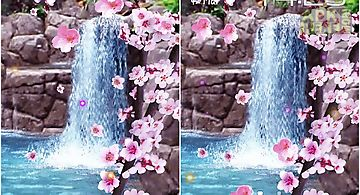 Sakura: waterfall Live Wallpaper