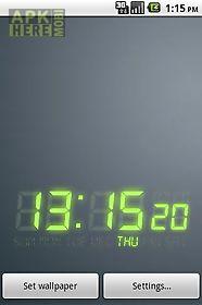 digi-clock livewallpaper trial