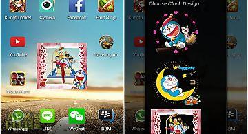 Doraemon android clock widget