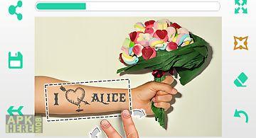Text tattoo: photo editor