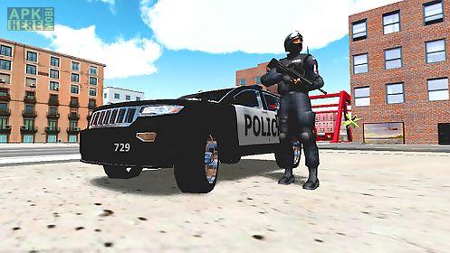 police car driver 3d