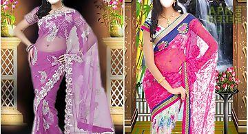 Women saree photo suit montage