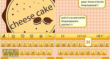 Cheese cake for hitap keyboard