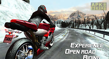 Frozen highway bike rider vr