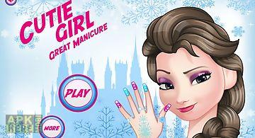 Girl manicure