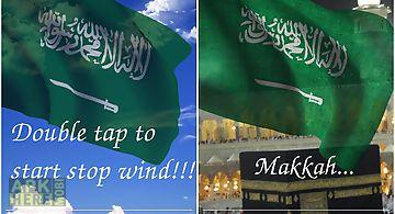 3d saudi arabia flag lwp Live Wa..