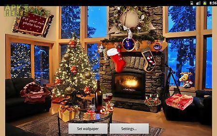christmas fireplace live wallpaper