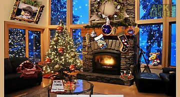 Christmas fireplace Live Wallpap..