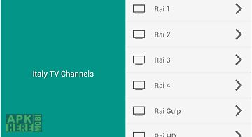 Italy tv channels