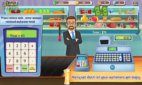 supermarket cash register sim