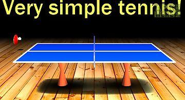 Simple table tennis: 2d gameplay