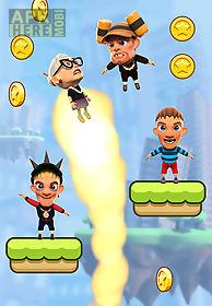 angry gran: up up and away. jump
