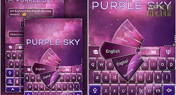 Purple sky go keyboard theme