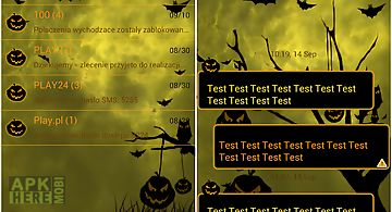 Theme halloween for go sms pro