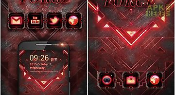 Dark forge go launcher theme