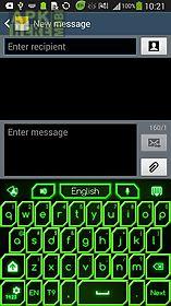 go keyboard green neon theme