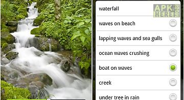 River sounds nature to sleep