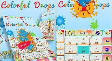 Colorful drops keyboard theme