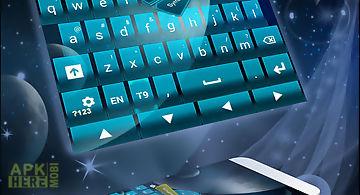 Keyboard theme galaxy
